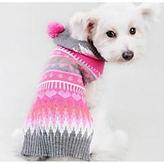 お買い得  犬用ウェア&アクセサリー-犬 セーター 犬用ウェア 幾何学的な フクシャ シルク繊維 コットン コスチューム ペット用 男性用 女性用 カジュアル/普段着 ファッション