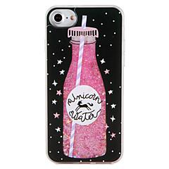 Недорогие Кейсы для iPhone 6-Кейс для Назначение Apple iPhone 7 Plus iPhone 7 Движущаяся жидкость С узором Кейс на заднюю панель Продукты питания единорогом Сияние и