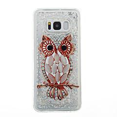 Etui Til Samsung Galaxy S8 Plus S8 Flydende væske Transparent Mønster Bagcover Transparent Ugle Glitterskin Blødt TPU for S8 S8 Plus S7
