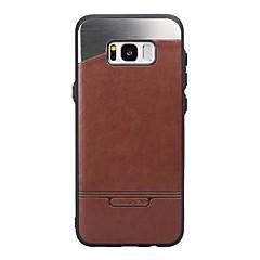tanie Galaxy S6 Etui / Pokrowce-Kılıf Na Samsung Galaxy S8 Plus S8 Odporne na kurz Etui na tył Solid Color Twarde Sztuczna skóra na S8 S8 Plus S7 S6 edge S6