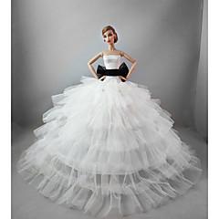 Düğün Elbiseler İçin Barbie Bebek İçin Kız Oyuncak bebek
