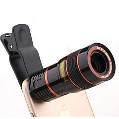 Universele hd 8x verstelbare focus optische telescoop mobiele telefoon camera lens met clip geschikt voor iphone en Android telefoons