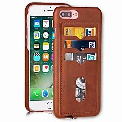 Недорогие Кейсы для iPhone 7 Plus-Кейс для Назначение Apple iPhone X iPhone 8 Бумажник для карт Кейс на заднюю панель Сплошной цвет Твердый Кожа PU для iPhone X iPhone 8