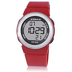 preiswerte Damenuhren-Damen Sportuhr Smartwatch Digital 100 m Wasserdicht Nachts leuchtend Caucho Band digital Charme Weiß / Blau / Rot - Purpur Rot Hellblau