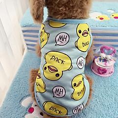 Kat Hund T-shirt Vest Hundetøj Afslappet/Hverdag Dyr Blå Lys pink