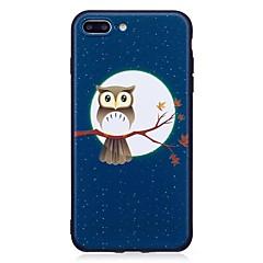 Для iphone 7 плюс 6 плюс 6s se 5s 5 чехол для крышки сова рельефная задняя крышка мягкая tpu
