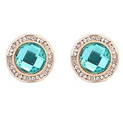 Dames Oorknopjes Druppel oorbellen Ring oorbellen Bergkristal Basisontwerp Cirkelvormig ontwerp Uniek ontwerp Logostijl Bergkristallen