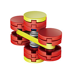 Fidget spinners Hilandero de mano Juguetes Spinner de anillo ABS EDCAlivia ADD, ADHD, Ansiedad, Autismo Alivio del estrés y la ansiedad