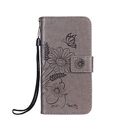 Voor telefoon 7 7 plus behuizing kaarthouder portemonnee reliëf vol body case bloem vlinder hard pu leer fori 6s 6 plus 6s 6 zie 5s 5
