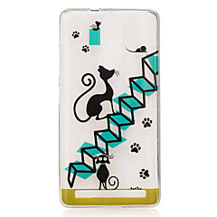 Voor lenovo k5 note k3 a2010 case cover cartoon kat patroon back cover soft tpu