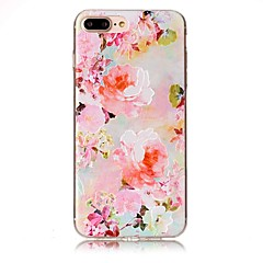 Для iphone 7 плюс 7 тисненое изображение цветка высокого качества tpu мягкий случай телефона 6 плюс 6s 6 se 5