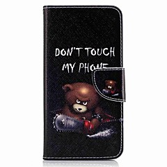 For Huawei P10 Plus P10 Lite Case Cover Card Holder Wallet with Stand Flip Pattern Case Full Body Case Bear Hard PU Leather