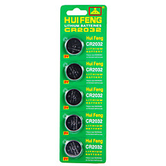 Hui Feng High Quality Lithium Battery Cr2032 Button Battery 3V 5Pcs