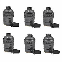 E26 / e27 φως 6 υποδοχές μεταλλικό κέλυφος για αντικατάσταση λαμπτήρα ή εξαρτήματος vintage βιομηχανικό στυλ DIY έργα χωρίς διακόπτη και