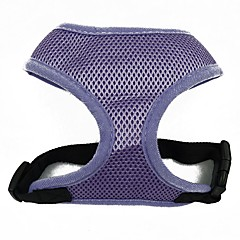 Dog Harness Portable Breathable Foldable Safety Adjustable Solid Fabric Mesh