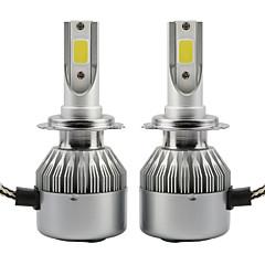 2本の36wのヘッドライトのコブc6の車のヘッドライトの電球h1のip65 6000k白のオートランプdc9  -  36v