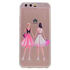 Huawei P10 P10 lite puhelinkotelo tyttöystäviä tyttö malli pehmeää TPU materiaalista puhelimen tapauksessa p10 ynnä P8 lite (2017)