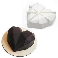 sütőformát Szív Cake Csokoládé Szilikon 3D Nem tapad Esküvő Szabadság Valentin nap