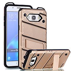 Case Kompatibilitás Samsung Galaxy J7 Prime J5 Prime Ütésálló Állvánnyal Hátlap Tömör szín Kemény PC mert On7(2016) On5(2016) J7 (2016)