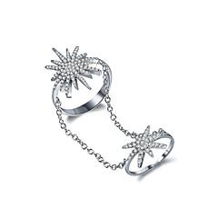 preiswerte Ringe-Damen Ohrring Kubikzirkonia Luxus Kreisförmiges Sexy Punk Hip-Hop Schmuck mit Aussage Zirkon Kupfer Kreisförmig Geometrische Form Schmuck