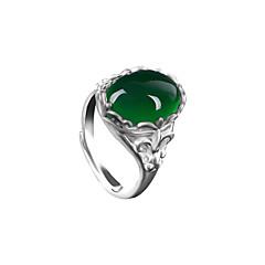 billige Damesmykker-Dame Ring Syntetisk Emerald Unikt design Vintage Mode Smaragd Legering Andre Oval Smykker Bryllup Jubilæum Fødselsdag Fest & Aften