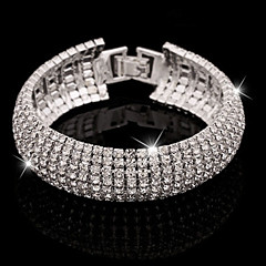 cheap Women's Jewelry-Women's Bangles / Tennis Bracelet - Imitation Diamond Cuff, Luxury, Basic Bracelet Silver / Golden For Party / Evening / Daily / Casual