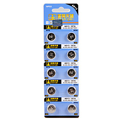 Tianjiu High Quality Alkaline Battery Ag13/357A 1.55V Button Battery 10Pcs