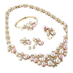 tanie -Damskie Zestawy biżuterii Kolczyki wiszące Perlový náhrdelník Rhinestone Luksusowy Elegancki Ślubny Ślub Impreza Urodziny Zaręczynowy