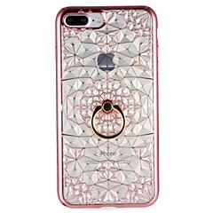 Назначение Чехлы панели Кольца-держатели Задняя крышка Кейс для Геометрический рисунок Мягкий Термопластик для AppleiPhone 7 Plus iPhone