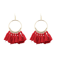 בגדי ריקוד נשים עגילי טיפה תכשיטים Euramerican תכשיטים אופנתי מותאם אישית פולי / כותנה סגסוגת Circle Shape תכשיטים עבור חתונה יום הולדת