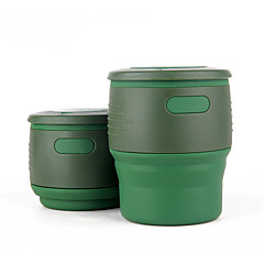 Bögre / csésze Összecsukható Ivóeszközök és evőeszközök utazásokra mert Összecsukható Ivóeszközök és evőeszközök utazásokraBézs Piros