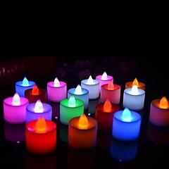 24pcs led svíčky baterie ovládané čajové světla realistické led světlo svíčky