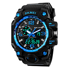 SKMEI 1155 Men's Sport Watch LED Digital Watch Digital Alarm Calendar Silicone Band Black