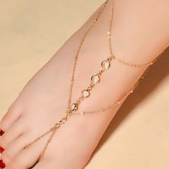 Kadın Ayak bileziği/Bilezikler Kristal Moda kostüm takısı Damla Mücevher Uyumluluk Günlük