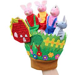 abordables Marionetas-Marionetas de dedo Rabbit Cerdo Animales Encantador Tactel Niños Chica Juguet Regalo