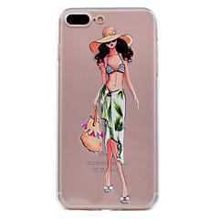 Недорогие Кейсы для iPhone 7 Plus-Кейс для Назначение iPhone 7 Plus IPhone 7 iPhone 6s Plus iPhone 6 Plus iPhone 6s iPhone 6 iPhone 5 Apple Ультратонкий Прозрачный С узором