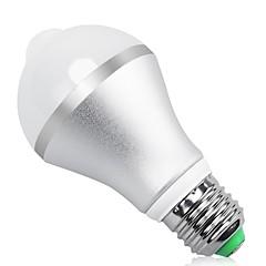 9W B22 E26/E27 Ampoules LED Intelligentes A60(A19) 18 diodes électroluminescentes SMD 5630 Capteur infrarouge Capteur de corps humain