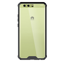 Недорогие Кейсы для Huawei других серий-Кейс для Назначение Huawei Защита от удара / Прозрачный Кейс на заднюю панель Однотонный Твердый Акрил для P10 Plus / P10 / P8 Lite (2017)