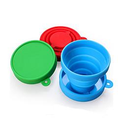 Bögre / csésze Összecsukható Ivóeszközök és evőeszközök utazásokra mert Összecsukható Ivóeszközök és evőeszközök utazásokra Piros Zöld Kék