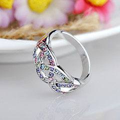 cheap Rings-Women's Ring Jewelry Fuchsia Blue Assorted Color Rhinestone Alloy Others Euramerican Fashion Birthday Event/Party Other Costume Jewelry