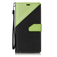 Недорогие Чехлы и кейсы для LG-Кейс для Назначение LG Бумажник для карт Кошелек со стендом Флип Магнитный Чехол Геометрический рисунок Твердый Кожа PU для LG V20 LG