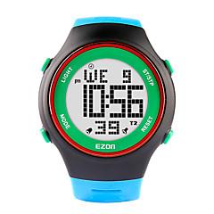voordelige Smartwatches-Ezon fashion horloges ultra-dunne mannen vrouwen sport waterdichte digitale stopwatch alarmdatum rubber sport polshorloge