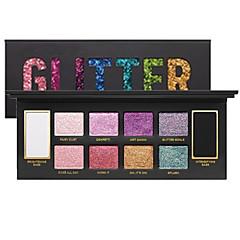 10 Paleta de Sombras Secos Brilho Paleta da sombra PurpurinaMaquiagem para o Dia A Dia Maquiagem para Dias das Bruxas Maquiagem de Festa