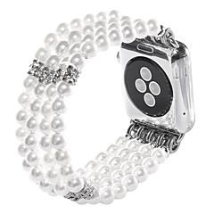 Koraliki jade agat perły paski biżuteria robiona ręcznie dla jabłek zegarek iwatch 38mm 42mm
