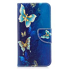 ja huawei p10-P9 lite suojus perhonen malli pu materiaali kortti stentin lompakko puhelimen tapauksessa Galaxy 6x y5ii P8 lite (2017)