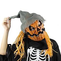 Halloween maszk sütőtök madárijesztő maszk hátborzongató latex realisztikus őrült gumi szuper hátborzongató parti halloween jelmez maszk