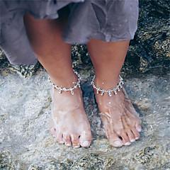 Kadın's Ayak bileziği/Bilezikler alaşım Eski Tip Flower Shape Mücevher Uyumluluk Günlük Dışarı Çıkma