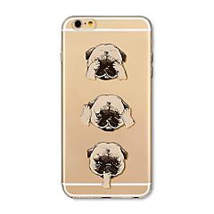 Недорогие Кейсы для iPhone 7-Кейс для Назначение Apple iPhone X iPhone 8 Plus Прозрачный С узором Кейс на заднюю панель С собакой Мультипликация Мягкий ТПУ для iPhone