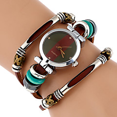 Women's Unique Creative Watch Fashion Watch Wrist watch Bracelet Watch Chinese Quartz Imitation Diamond Genuine Leather Band Vintage