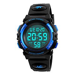 cheap -SKMEI Sport Watch Military Watch Wrist Watch Japanese Digital 50 m Water Resistant / Water Proof Alarm Calendar / date / day PU Band Digital Fashion Black - Black Red Blue / Chronograph / Stopwatch